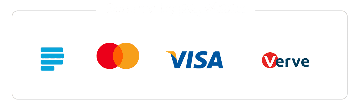 Payment Secured by Paystack